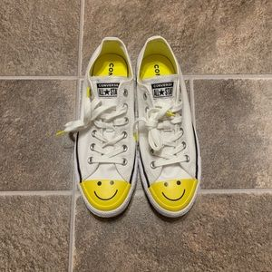 Converse All Star Low Happy Smiley Face Sneakers